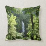 Trafalgar Falls Tropical Rainforest Photography Throw Pillow