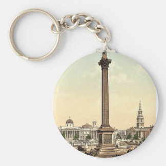 Trafalgar Square and National Gallery, London, Eng Keychains