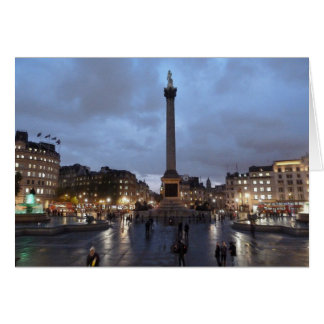 Trafalgar Square by night Card