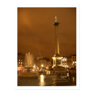 trafalgar square by night london uk postcard