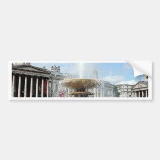 Trafalgar Square fountain London Bumper Sticker