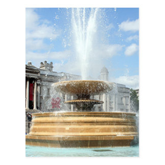 Trafalgar Square fountain London Postcard
