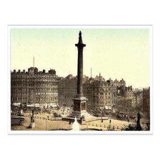 Trafalgar Square, from National Gallery, London, E Postcard
