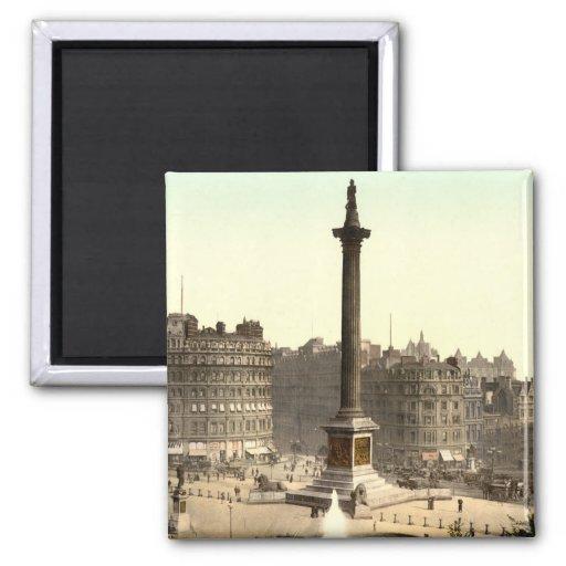 Trafalgar Square I, London, England 2 Inch Square Magnet