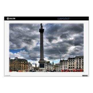 Trafalgar Square London, Cloudy Sky, England Laptop Decal