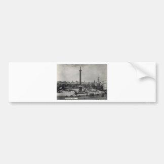 Trafalgar Square, London. Photo about 1940's Bumper Sticker