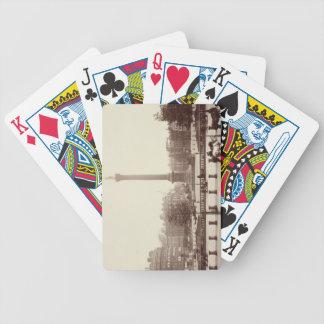 Trafalgar Square, London (sepia photo) Bicycle Playing Cards