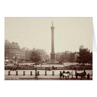 Trafalgar Square, London (sepia photo) Card