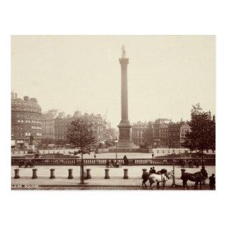 Trafalgar Square, London (sepia photo) Postcard