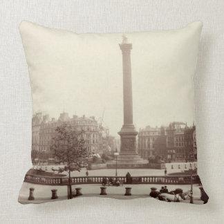 Trafalgar Square, London (sepia photo) Throw Pillow
