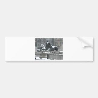 Trafalgar Square London - Snow Bumper Sticker