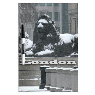 Trafalgar Square London - Snow Dry Erase Board