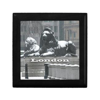 Trafalgar Square London - Snow Keepsake Boxes