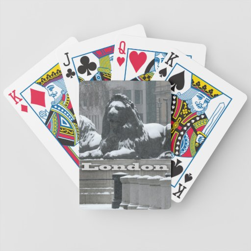 Trafalgar Square London - Snow Bicycle Playing Cards