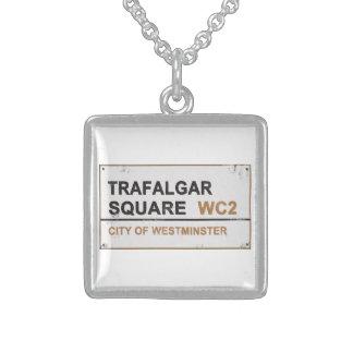 Trafalgar Square London - Vintage sign Custom Necklace