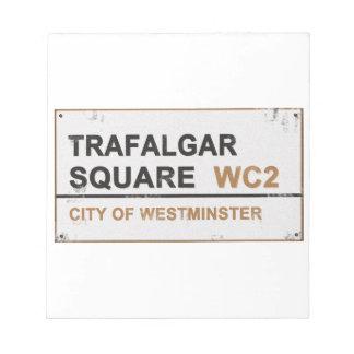 Trafalgar Square London - Vintage sign Memo Note Pads