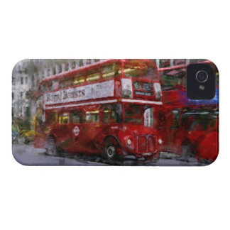 Trafalgar Square Red Double-decker Bus, London, UK Case-Mate iPhone 4 Case