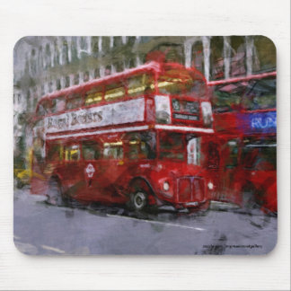 Trafalgar Square Red Double-decker Bus, London, UK Mouse Pad