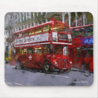Trafalgar Square Red Double-decker Bus, London, UK Mouse Pad