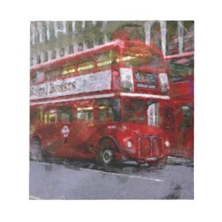 Trafalgar Square Red Double-decker Bus, London, UK Notepad
