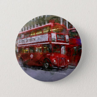 Trafalgar Square Red Double-decker Bus, London, UK Pinback Button