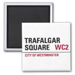 Trafalgar Square Sign 2 Inch Square Magnet