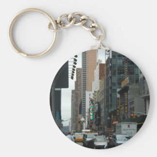 Traffic 42Nd And 7Th Ave Basic Round Button Keychain