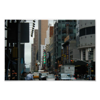 Traffic 42Nd And 7Th Ave Print