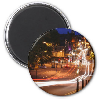 Traffic At Night In Harrogate Town Centre Fridge Magnets