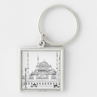 Traffic by mosque keychain