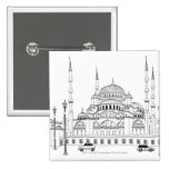 Traffic by mosque pinback button