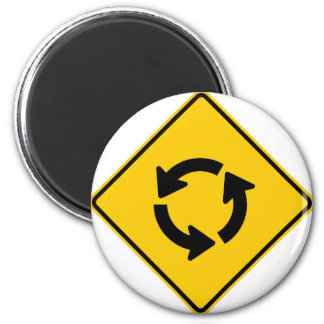 Traffic Circle Highway Sign 2 Inch Round Magnet
