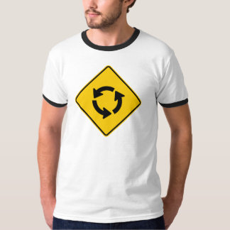 Traffic Circle Highway Sign T-Shirt