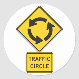 Traffic Circle Road Sign Stickers