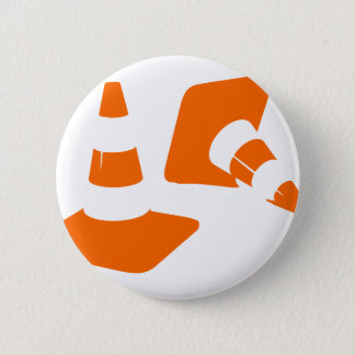Traffic cone safety pylon  two Whitch hat marker 2 Pinback Button