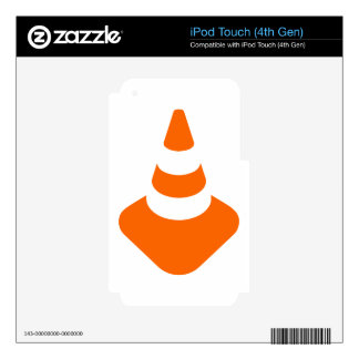 Traffic cone safety pylon Whitch hat marker iPod Touch 4G Decal