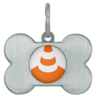 Traffic cone safety pylon Whitch hat marker Pet ID Tag