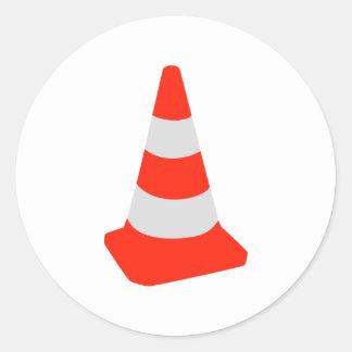 Traffic cone round sticker