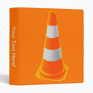 Traffic Cone with Grey Stripes Binder
