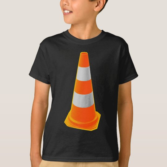 Traffic Cone with Grey Stripes T-Shirt