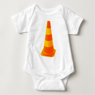 Traffic Cone with Yellow Stripes Baby Bodysuit