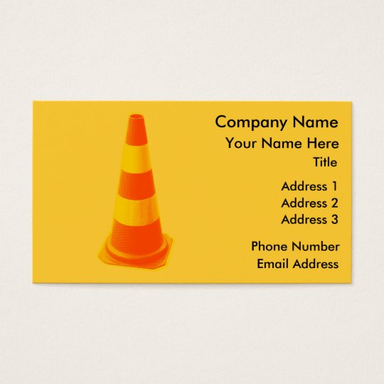 Traffic Cone with Yellow Stripes Business Card