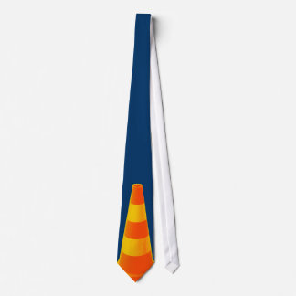 Traffic Cone with Yellow Stripes Neck Tie