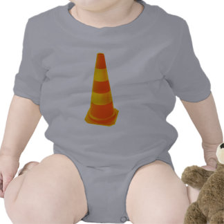 Traffic Cone with Yellow Stripes Tees