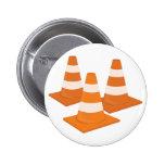 Traffic Cones 2 Inch Round Button