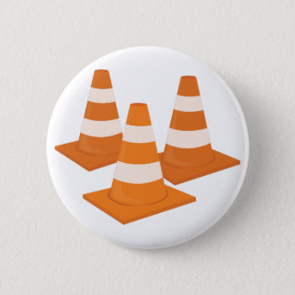 Traffic Cones Pinback Button