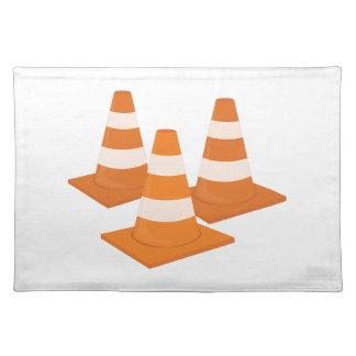 Traffic Cones Cloth Placemat