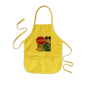 Traffic Control Officer Kids' Apron