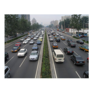 Traffic in Beijing China Postcard