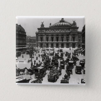 Traffic in front of the Paris Opera House Button